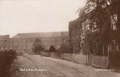 London Real Photo Postcard. Old & New Dulwich. Southwark. Lydall. Scarce!  1911