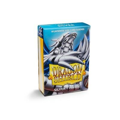 Dragon Shield Small Sleeves - Japanese Matte Silver (60 bustine)