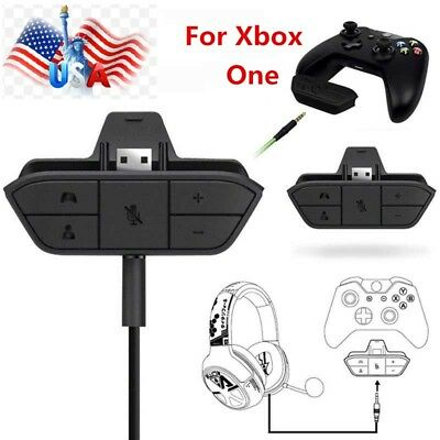 Stereo Headset Adapter Headphone Converter for Xbox One Game Controller US 2018
