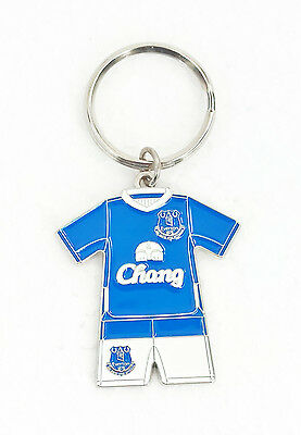 Official EVERTON FC Home Kit Keyring Football Metal Keychain Gift