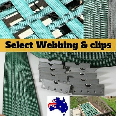 Upholstery Webbing Seat furniture VG450 50mm wide Web Clips 1,5,10 metre Elastic