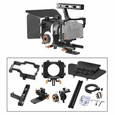 Metal Handle DSLR Rig Stabilizer Video Camera Cage Kit fr A7 A7R A7S A7SII New