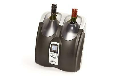 Hostess Twin Bottle Wine Chiller HW02MB 2 Hour Cooling Time Brand New Black