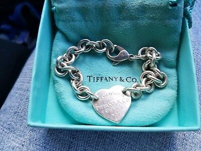 1127a8fe5 Beautiful Sterling Silver Tiffany & Co. Heart Tag bracelet and 16 inch  choker