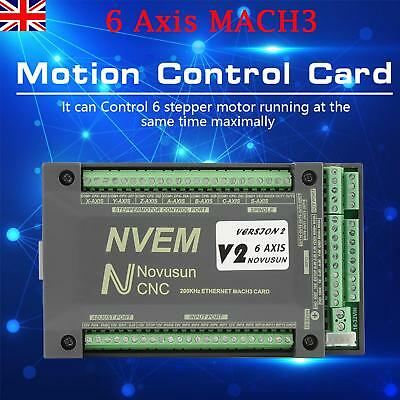 Mach3 6Axis Ethernet Interface Board CNC USB Motion Control Card 1 Channel  PWM