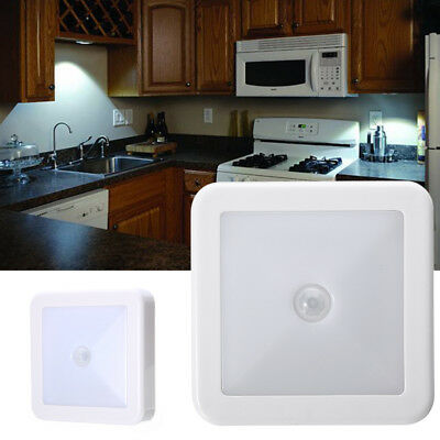 Wireless PIR Motion Sensor LED Night Light Cabinet Stair Lamp Battery Powered