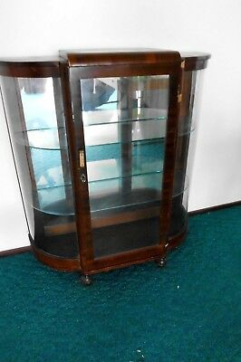 Vintage mirror backed crystal glass cabinet. Knoxfield, Melbourne.