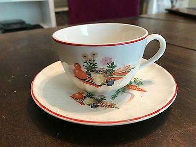 Excellent 1940s 50s W.S George BOLERO GRACIA Mexican China Cup & Saucer