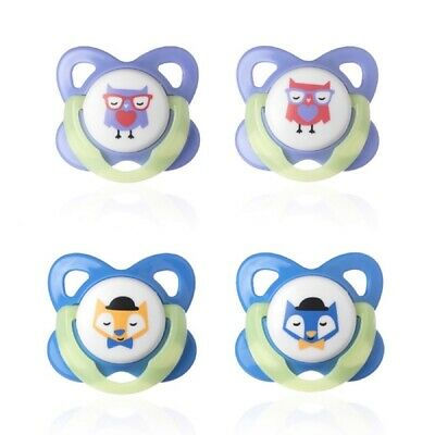 Tommee Tippee Glow In The Dark Soother Twin Pack: 6-12m (Choice of Design)(A133)