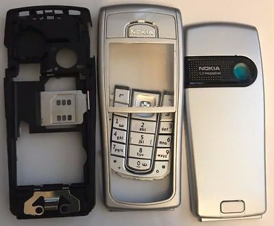 New For Full Nokia 6230 6230I Housing Fascia Cover Silver With Keypad + Chassis
