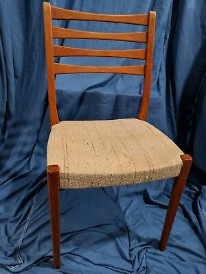 Mid Century Dining Chair Svegards Markaryd Teak Chair Sweden Danish Vintage