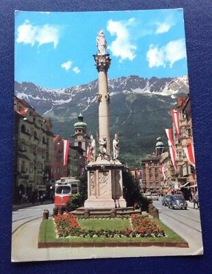 Postcard: Innsbruck: Maria Theresia Street With The Column Of St Anne: Posted