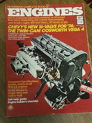 """Hot Rod - Technical Library - """"The Complete Book of Engines Vol 10"""" 1974"""