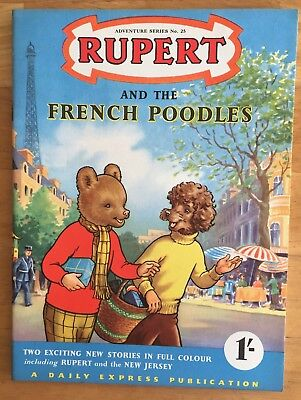 RUPERT Adventure Series 25 Rupert and The French Poodles JUNE 1955 VERY FINE