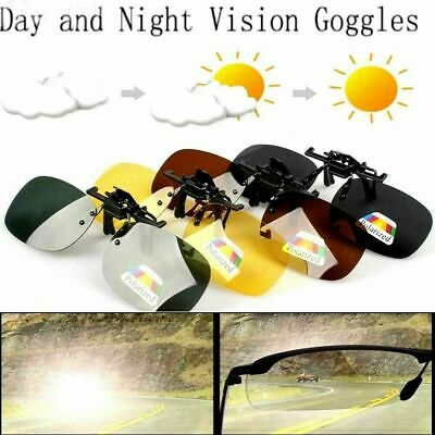 Polarzied Sunglasses Day Night Vision Clip on Lens Driving Glasses for Men Woman