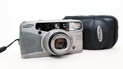 SAMSUNG SLIM ZOOM 145S 35mm film point and shoot camera with case lomo retro