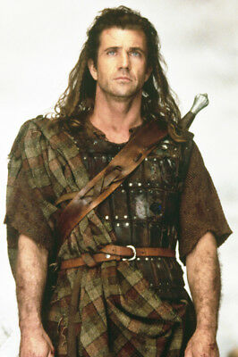 Braveheart Mel Gibson Iconic Portrait In Scottish Costume 24X36 Poster