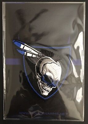 New Sealed Modern Arms Blue/Black Skull Embroidered Morale Patch