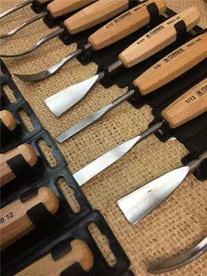 CLEARANCE LINE WOOD CARVING CHISELS WOODEN HANDLES GOUGES SPOON SKEW CURVED