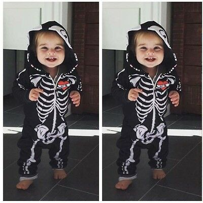 Boys Fancy Dress Toddler Baby Halloween Bitty Bones Skeleton Costume Jumpsuit
