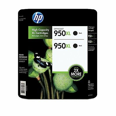 HP Genuine 950XL Black 2-PK of Ink in Retail Box