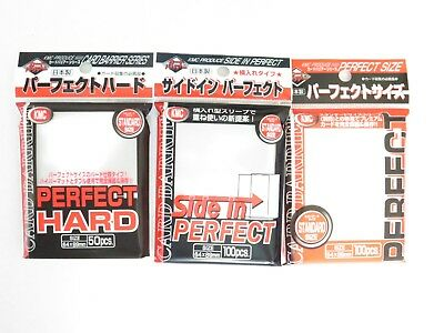 KMC Clear Sleeves Protecors - Perfect Size/Fit/Hard Sleeves - Pokemon Yugioh MTG