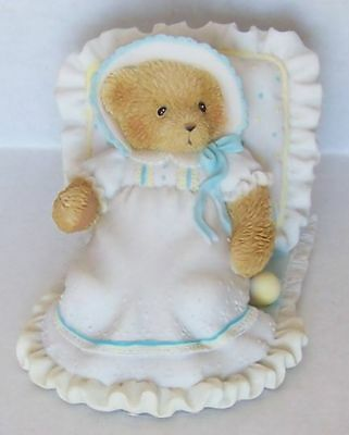 """Cherished Teddies #114466 """"A Baby Blesses Our Hearts' Figurine"""
