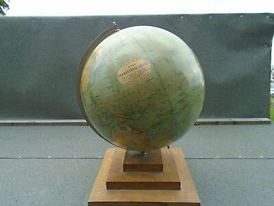 1920s -  30s 12 Inch Terrestrial Globe Philips, George & Son 2615