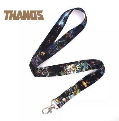 Marvel Avengers Thanos Infinity Keychain Lanyard Neck Strap ID Holder