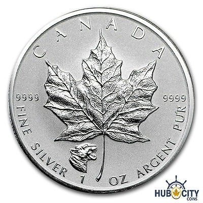 2017 1oz Silver Maple Leaf Growling Cougar Privy $5 .9999 Fine Silver Coin