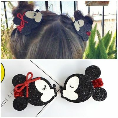 Hair Clips Mouse for Girls Kids Hairpins Barrettes Cartoon