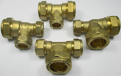 COMPRESSION UNEQUAL BRANCH or END REDUCING TEE BRASS FITTINGS