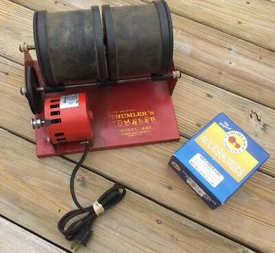 Thumler's Tumbler Model A-R 2 Rock Tumbler With 2 Barrels Made In USA