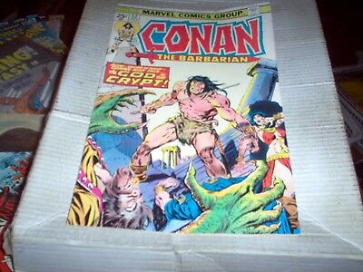 Conan The Barbarian # 52 J. Buscema Art Altar & The Scorpion Issue Look Vf-