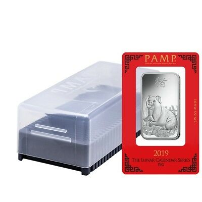 Box of 25 - 1 oz PAMP Suisse Year of the Pig Silver Bar (In Assay)