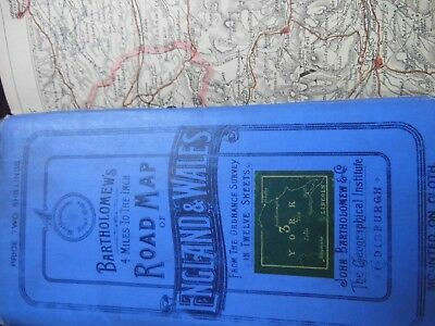 Yorkshire-Old Cycle &railway Map Using Older Ordnance Base-Bartholomew 1850-1900