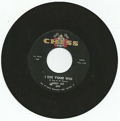 """Buddy Guy~ I Dig Your Wig/My Time After While Orig. 1964 Chess (13271) 7"""" Single"""