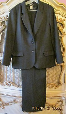 Haberdashery by Personal Black 3 piece pant/skirt suit SZ 16
