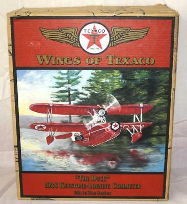 ~Nos~ Ertl Wings Of Texaco Special Edition Airplane Bank Die Cast Orig Box ~98