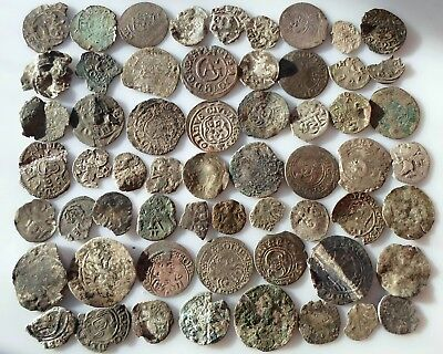 Mixed medieval silver coins In the lot 59 PCs 25,5 g.