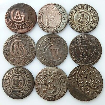 Mixed medieval silver coins In the lot 9 PCs