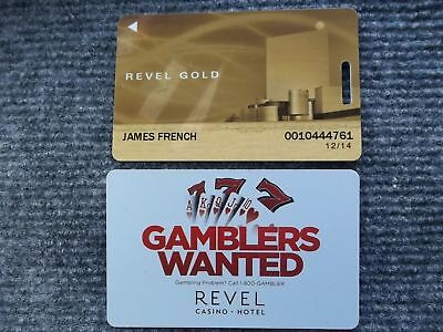 REVEL Casino AC Atlantic city Gold Player card & Room Key New condition