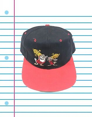 "Vintage 90s The Ren & Stimpy Show ""Fire Dogs For Hire"" Snapback Hat"