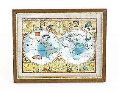 A New And Accvrat Map Of The World 1626.A New And Accvrat Map Of The World 1626 Silver Gold Foil Print
