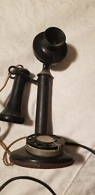 Vintage Rotary Dial Candlestick Telephone American telephone co. Refurbished.