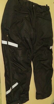 Firstgear Hypertex Motorcycle Riding Pants Overpants Mens 44 Black armored knee