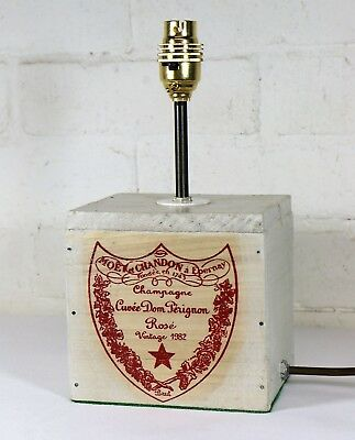 Unique French Table Lamp from Vintage Moet & Chandon Champagne Cases Shabby Chic