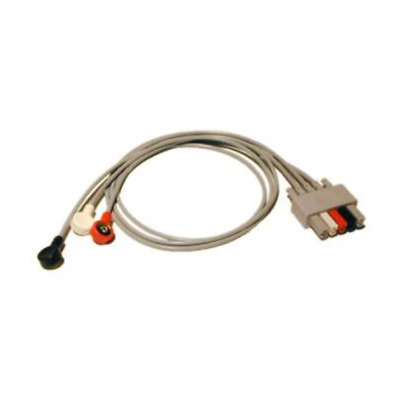 "Mindray 3-Lead ECG Snap Lead Wires - 24"" for Passport 2 & More - 0012-00-1261-08"