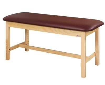 Clinton 1010-27 Treatment Table H-Brace Royal Blue w/ Natural Base NO Back Lift