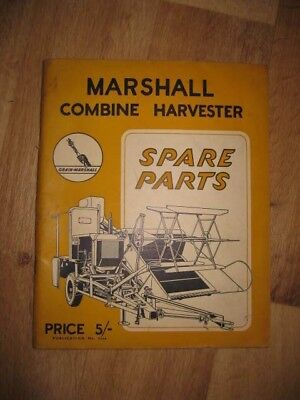 Marshall Combine Spare Parts Manual old vintage Field Marshall tractor